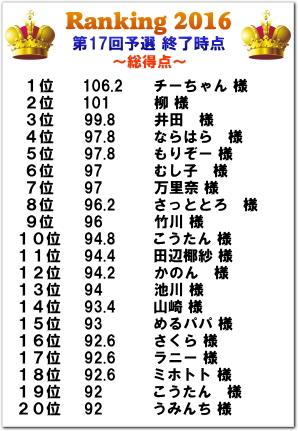 カラオケ大会2016 ランキング